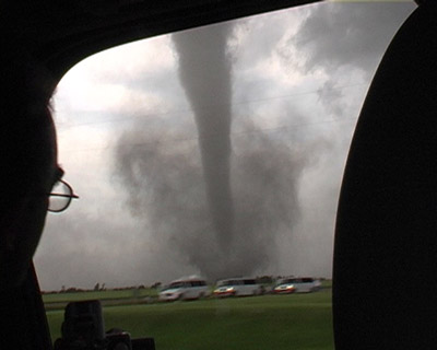 tornado alley. Barrel tornado F4