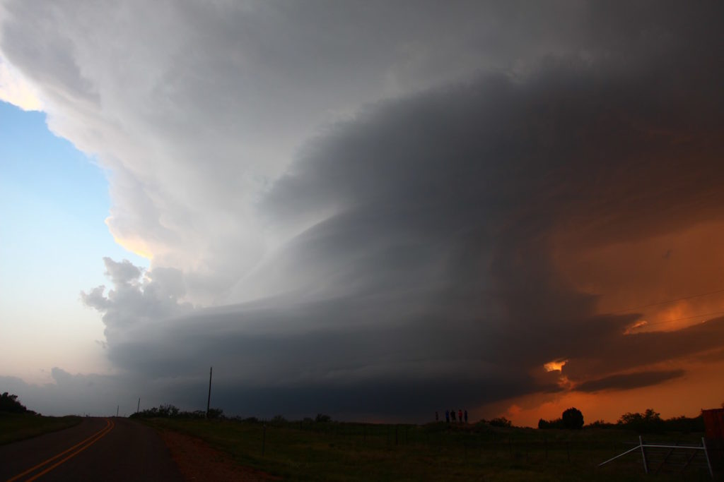 Sunset Turkey supercell 2016